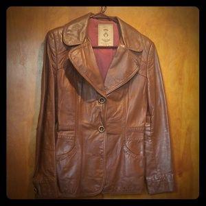 Vintage leather blazer jacket